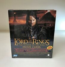 LOTR Lord of the Rings Return of the King Update - Sealed Trading Card Hobby Box