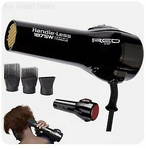 Red By Kiss Professional Handle Less Ceramic Tourmaline Hair Dryer New