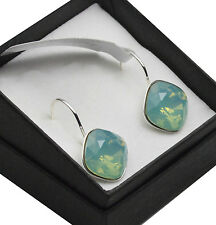 Silver Plated Earrings made with Swarovski Crystals SHEENA *PACIFIC OPAL* 12mm