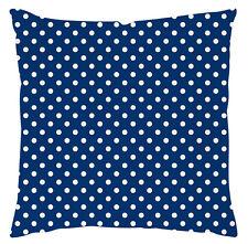 Kissenhülle Kissenbezug Motivkissen Polka Dots blau Canvas-Stoff