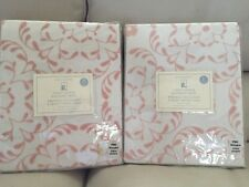 "2pc Pottery Barn Kids  Sweet Flower Blackout Panels Drapes CurtaIns 84"" Pink"