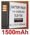 Batterie 1500mAh type SLB-10A SLB10A Pour Samsung WB150F