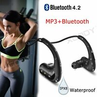 IP68 Waterproof Wireless Bluetooth Earphone In Ear Headsets for Swimming Sport