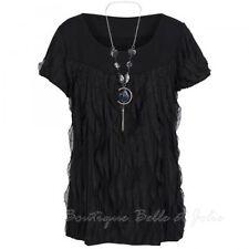 Markenlose Kurzarm Damenblusen, - tops & -shirts mit Carmen-Ausschnitt