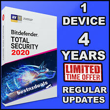 BITDEFENDER TOTAL SECURITY 2020 - 4 YEARS FOR 1  DEVICES ACTIVATION  - DOWNLOAD