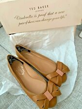 Ted Baker Women's Imme 4 Camel Tan Bow Ballet Flats Shoes size US 5 35.5 UK 2.5