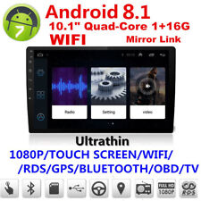 """Latest Car GPS 10.1""""1080P Double 2Din Touch Screen Quad-Core Stereo Radio Player"""