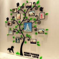 3D Acrylic Photo Frame Mulitcolor Tree Wall Art Sticker Room Bedroom Wall  *