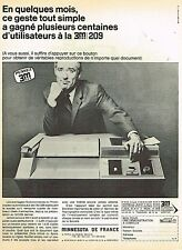 C- Publicité Advertising 1966 Copieur Photocopieur 3M 209