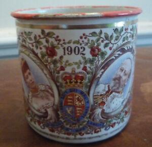 1902 Coronation King Edward VII Enamel Mug