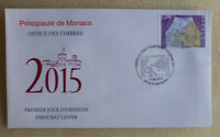 2015 MONACO SEPAC CULTURE FDC FIRST DAY COVER