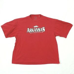 Cadre Arkansas Razorbacks T-shirt Men XXL 2X Throwback Stitch Sell Out Patchwork
