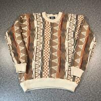 Vintage 90s SUTTER & GRANT Cosby Style Mens Sweater Large | 3D Knit Jumper