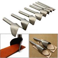 DIY Leather Craft Punch Cutter V Shape Belt Wallet Strap End Tool 10-45mm Set