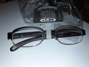 FOSTER GRANT READING GLASSES+1.25  NEW IN PACK