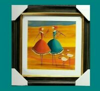 """ESTHER MYATLOV """"Companions"""" 2/550 Hand Signed Limited Edition Art Serigraph"""