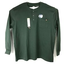 NEW DICKIES Heavyweight Henley Tee Shirt 3XLT Long Sleeve Dark Green NEW W/TAGS