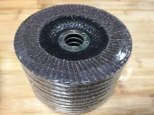 10 pcs Angle Grinder Flap Sanding Disc 5'' - 40 Grit Grinding Wheel