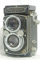 Olympusflex TLR Film Camera SN107068 w/Zuiko F.C. 7.5cm F/2.8 Lens *As-Is*