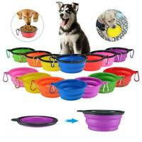 Portable Pet Dog Cat Collapsible Feeding Bowl Travel Silicone Water Dish Camping