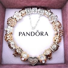Authentic Pandora Bracelet with ANGEL LIVE LAUGH LOVE GOLD European Charms