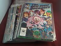 The West Coast Avengers #2,3,4,5,6,8,9,10,12-22,24-26,28-30,43-48 Comic Book Lot