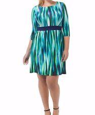 Triste Rainforest Cascade Chelsea Floral Fit And Flare Dress Size 2X