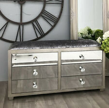 Venetian Mirrored Chest Drawers Hall Sideboard Furniture Antique Storage Cabinet