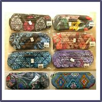 NWT Vera Bradley On a Roll Case Zip Pencil Brush Cosmetic Makeup Bag