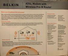 Belkin ADSL Modem with Wireless Pre-N Router