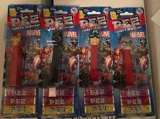 Marvel Avengers Pez - 4 Piece Set Black Panther Captain America Ant-Man Iron Man