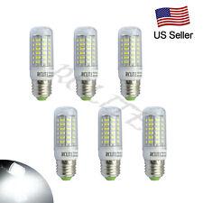 Bright 6x E27 7W 56LEDs 5730 SMD LED Corn Bulb Lamp Cool White Lights 110V