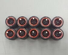 Hot wheels rubber tires real riders 10 spoke Red Chrome 5 sets big size 12 599xx