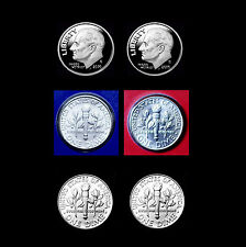 2010 P+D+S+S Roosevelt Dime Silver & Clad Gem Proof ~ PD Mint Wrap & Bank Roll