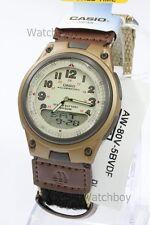 AW-80V-5B Casio Uhr 10-jährige Batterie 50m Analog Nylon Tuch Band Herren