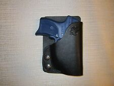 Ruger lc9 with laser,kahr pm, cm, with laser LEFT HAND wallet & pocket holster