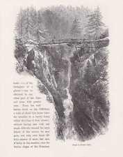 Zermatt Monte Rosa Walliser Alpen HOLZSTICH um 1880