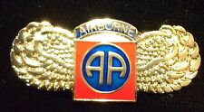US Army Military Tie Tac Hat Lapel Pin 82 82nd Airborne Patch Wings NEW #R36B