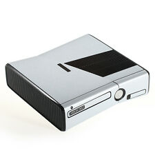 Brushed Aluminium Metal Effect XBOX 360 Slim decal skin sticker cover wrap