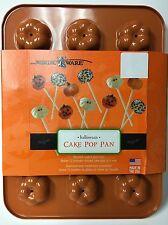 NordicWare Halloween Pumpkin Cake Pop Pan 12 Count Nordic Ware Non-Stick NEW