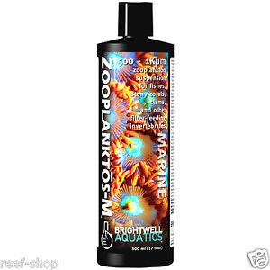 Brightwell Zooplanktos-M 500mL Liquid Coral Food Zooplankton Free USA Shipping
