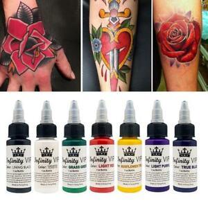 Eternal Tattoo Ink Set Pigment Bottle Permanent Makeup Art 7 Colors-Optional