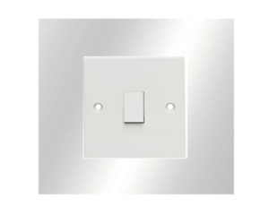 Single Light Switch Surround Mirrored Acrylic Perspex Plastic Finger Plate/Guard