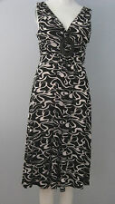 BIZZ GIRL Size M Black White Sleeveless Dress with Pad Insert
