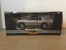 NEW ERTL 1985 Chevrolet Monte Carlo SS T-Top 1:18 Die Cast Car Silver
