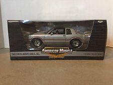 NEW ERTL 1985 Chevrolet Monte Carlo SS T-Top 1:18 Die Cast Car Silver