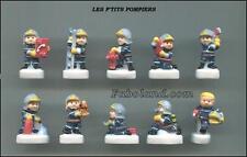 Feves LES P'TITS POMPIERS - DV2164 -  10 Sujets  Porcelaine 3 cm. Environ