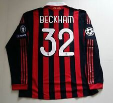 AC Milan 2009-10 ADIDAS Formotion UCL Match Player-issue Shirt #32 DAVID BECKHAM