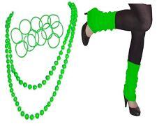 NEON TUTU ACCESSORIES LEG WARMERS NECKLACE  BANGLES 80' FANCY DRESS PARTY