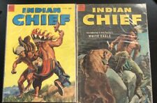 Dell Comic Pair: Indian Chief #11+#12 - 1953 - Used